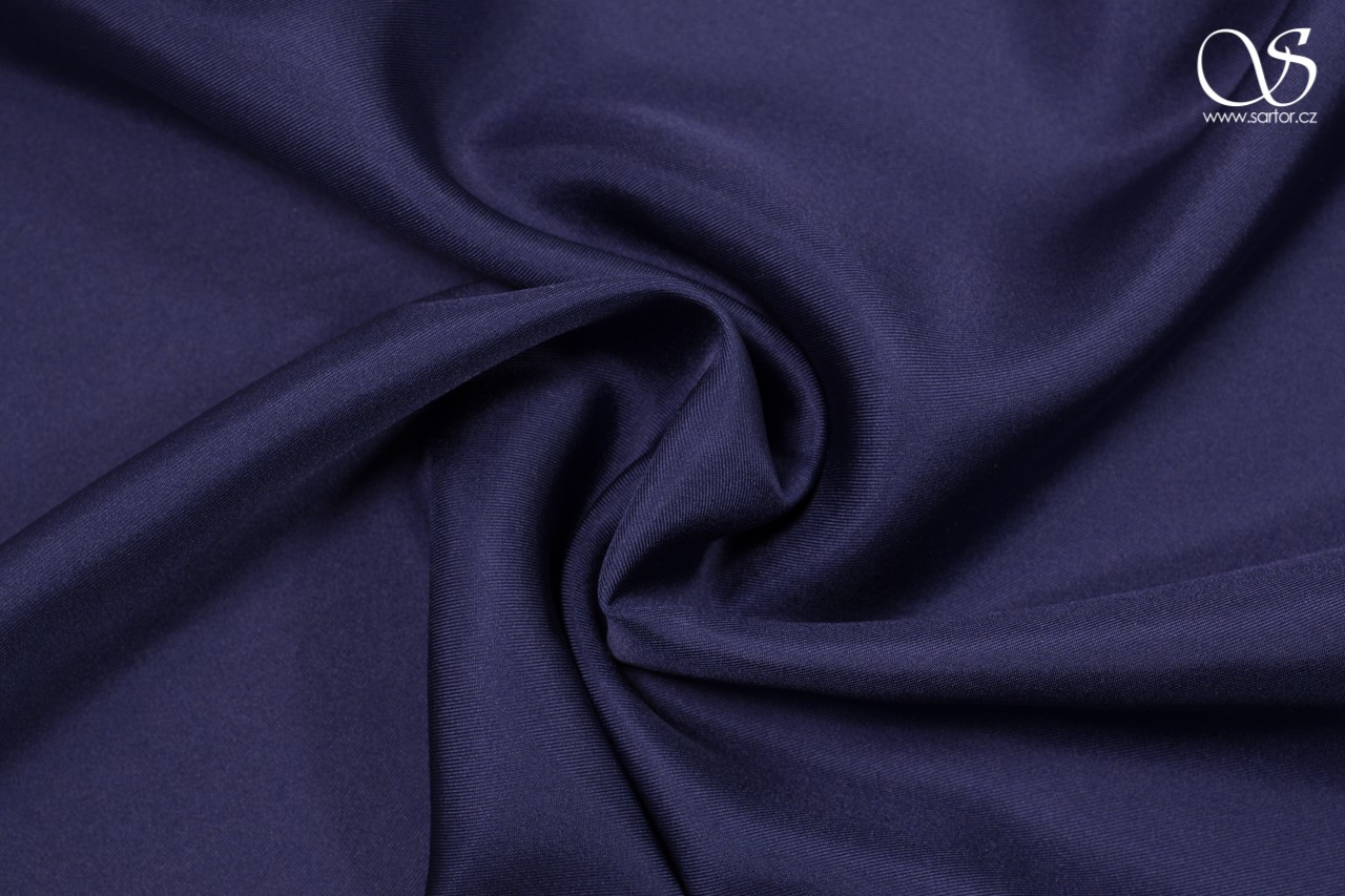 Silk serge, dark blue, DEFECTS
