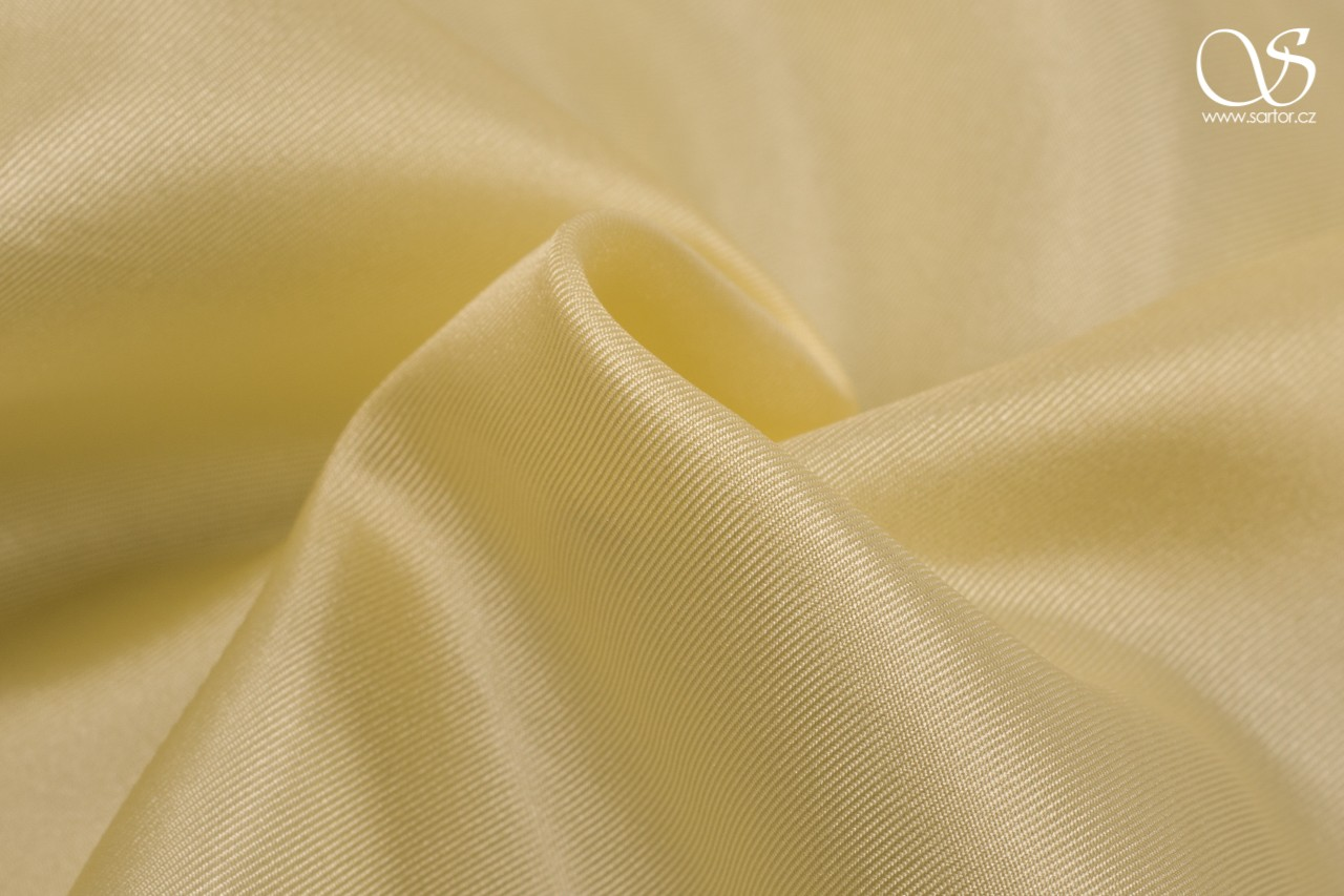 Silk serge, light yellow