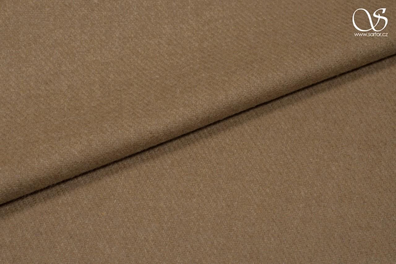 Light twill broadcloth, merino wool, beige