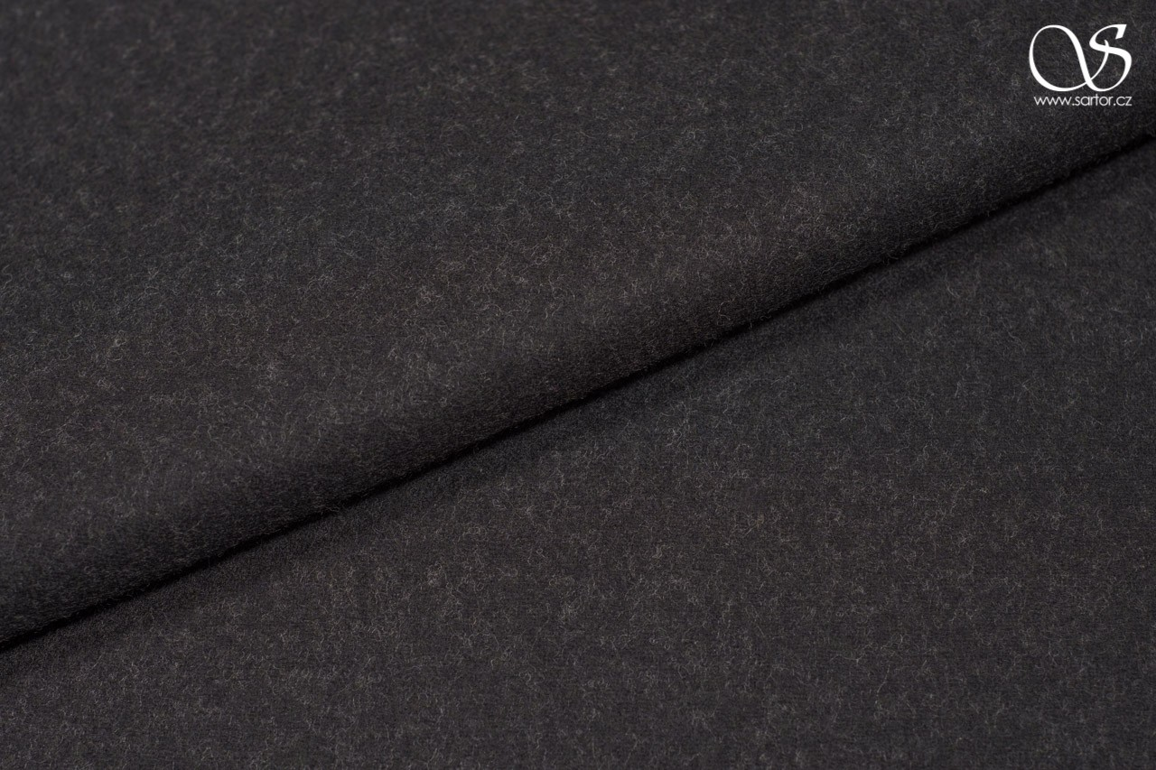 Light plain broadcloth, merino wool, black